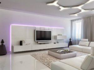 Дизайн обоев для зала в разных стилях